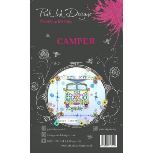 Campervan - Pink Ink Designs Clear Stamps Set